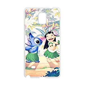 Lilo & Stitch Samsung Galaxy Note 4 Cell Phone Case White yyfabc-424657