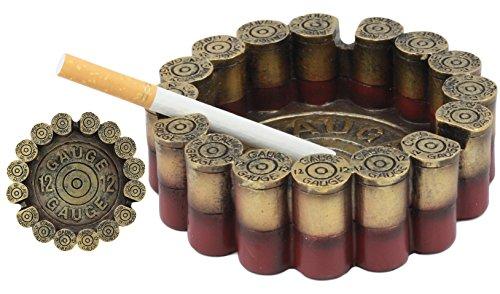 Decor Ashtrays - Ebros Western 12 Gauge Shotgun Shells Round Cigarette Ashtray Figurine 4.5