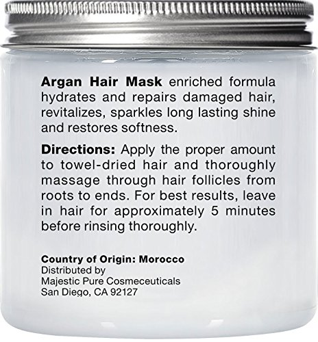 Majestic Pure Argan Hair Mask, Natural Hair Care Product, Hydrating & Restorative Hair Repair Mask - 8 fl Oz by Majestic Pure (Image #3)