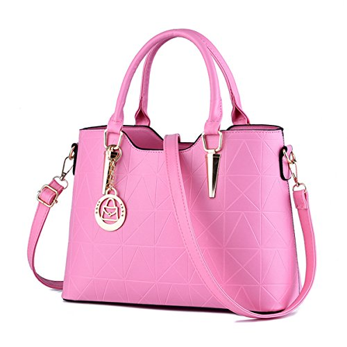 RUIREN Multifunción Soft Bag Portable Women Bolso de Hombro Rosado