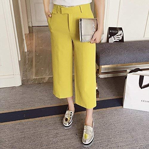 colore Lungo Donne xl Del Pantalone Yellowgreen Primaverile Gilet Libero Larga l Decorazione White Fuweiencore Nella Vogue Gamba Tempo Dimensione w5OqAH
