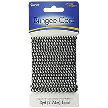 Darice Round Bungee Cord, Black Metallic