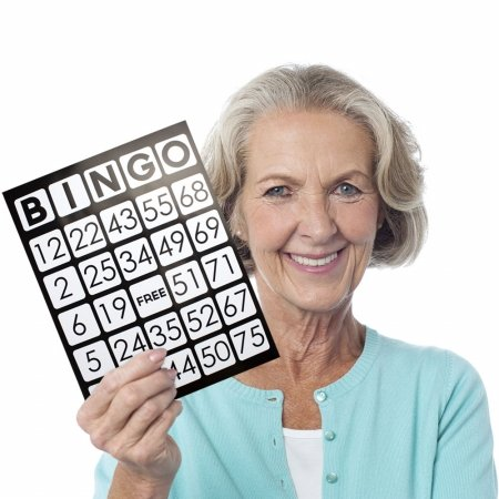 Brybelly Holdings GBIN-206 EZ Readers Jumbo Bingo Cards44; Pack of 25 from Brybelly Holdings