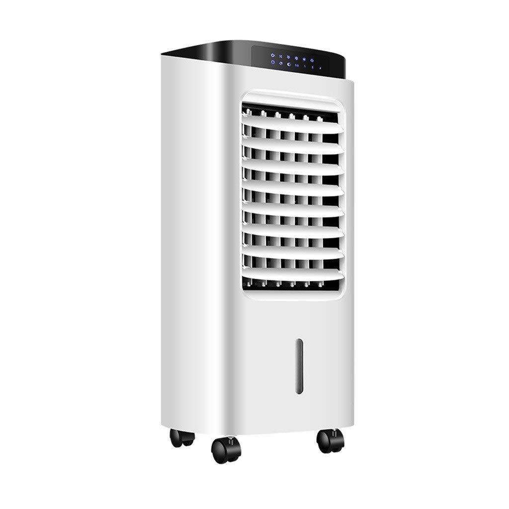 スリム扇風機 ポータブルエアコン、家庭用リモコン冷却ファン空気清浄可動冷却ファン、白 B07TJGS2T9