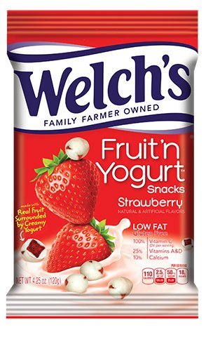 Welch's Fruit 'n Yogurt Snacks, Strawberry - 4.25 oz Bag (Fruit Yogurt)
