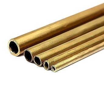 5 tubos de latón redondos de 2 a 6 mm de diámetro para ...