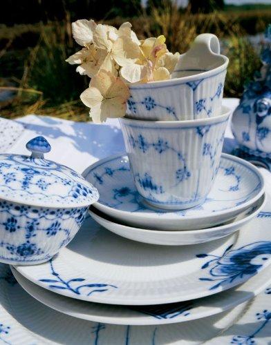 Blue Fluted Plain 5.25 oz. Sugar Bowl with Lid by Royal Copenhagen (Image #1)