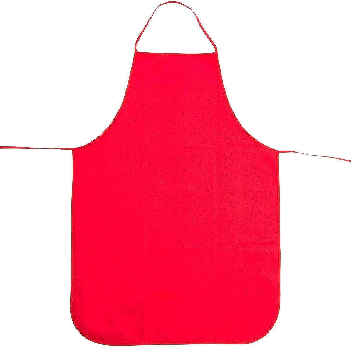Zoomyo Grembiule da barbecue bianco senza stampa rosso