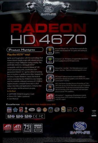 Amazon.com: Sapphire Radeon HD4670 1 GB DDR3 VGA/DVI/HDMI ...