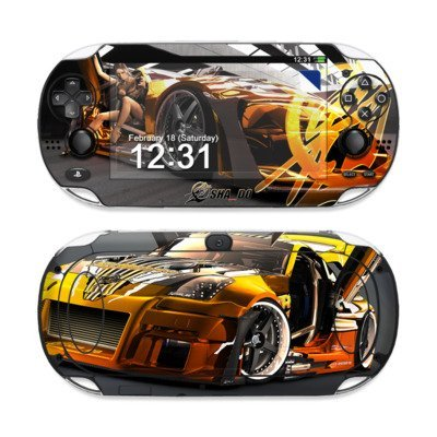 Z33 Light Design Protective Decal Skin Sticker (High Gloss Coating) for Sony Playstation PS Vita Handheld ()