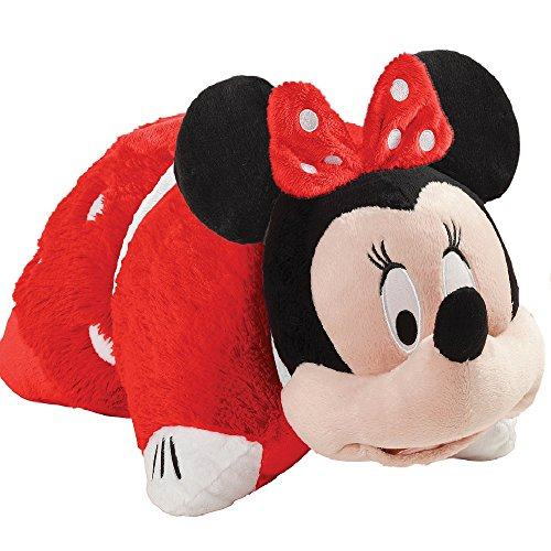 Disney Minnie Jumboz Pillow Pet Floor Pillow - Jumbo Red Rockin the Dots Minnie Mouse Stuffed Animal Plush Toy (Red Floor Pillow)