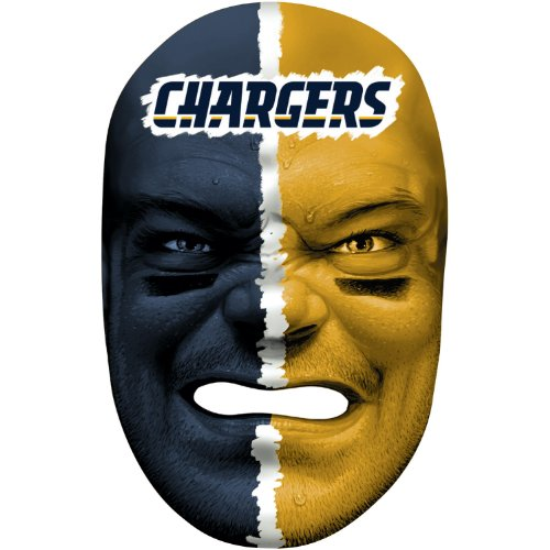 - Franklin Sports NFL San Diego Chargers Team Fan Face Mask
