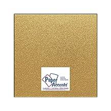 "Accent Design Paper Accents ADP1212-15.G10 No.85 12"" x 12"" Gold Glitter Card Stock"