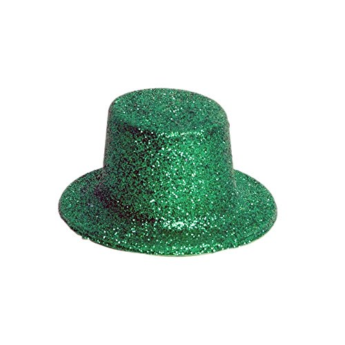 Green Leprechaun Hat (Best SELLER Glittery St. Patrick Mini Plastic Party Hats, 5-ct. Packs)