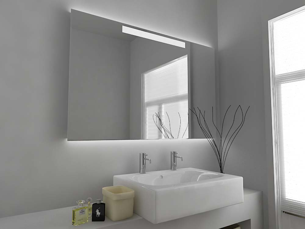 Modern Mirror Design Illuminated Bathroom Mirror with Sensor, Demister Pad and Shaver Socket C5003 Clear Glass 600mm x 920mm Modern Mirror Design Limited