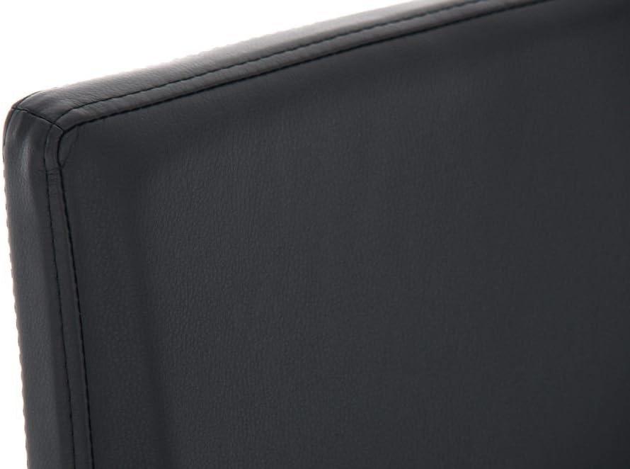 Edelstahl-Barhocker Freeport mit Kunstlederbezug I Barstuhl mit R/ückenlehne und Fu/ßst/ütze I erh/ältlich Farbe:blau