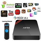 NEXBOX Android 5.1 4K TV Box A95X Amlogic S905 Quad core Cortex A53 2.0GHz 64bit Mini PC KODI 16.1 Pre-installed 1GB+8GB 1080P Small and Smart Beats MXQ Pro with Learning Remote