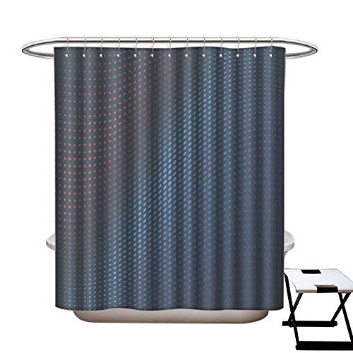 longbuyer Mildew Resistant Shower Curtain Halftone of Colored dots on a Gray Background Shower CurtainW36 x L72