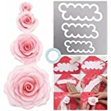 Pindia Set Of 3 Cake Decorating Gumpaste Sugar Craft Easiest Rose Ever Cutter Fondant Cookie Cutter Rose Flower Maker