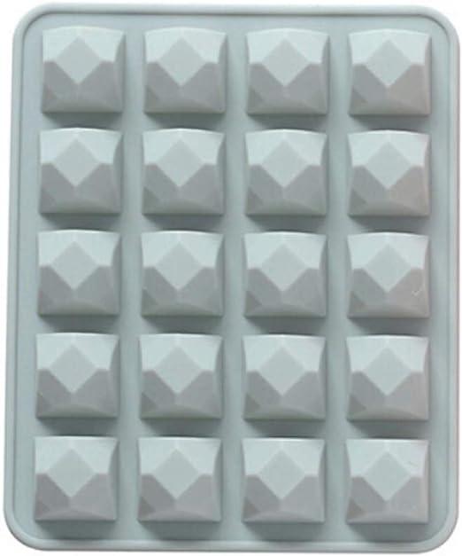 Handfly Forma de diamante Cubo de hielo de silicona Molde de hielo ...