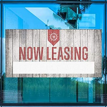 96x48 Basic Black Perforated Window Decal CGSignLab 2470553/_5gfxp/_96x48/_None Now Leasing