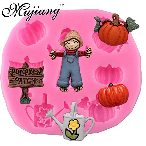 1 piece Halloween Pumpkin Boy Silicone Mold Fondant