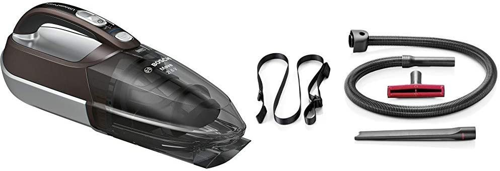 Bosch BHN2140L Move Lithium Aspirador, 0.4 litros, Plástico, Marrón/gris traslúcido/plata + BHZKIT1 - Accesorios para juntas y tapicerías para aspirador escoba Athlet: Amazon.es: Hogar