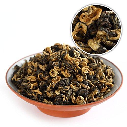 GOARTEA 500g (17.6 Oz) Supreme Organic Yunnan FengQing Golden Bud Snail Dian Hong Chinese Black Tea