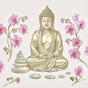 Papierservietten Ambiente Servietten Lunch//Party ca 33x33cm Buddha