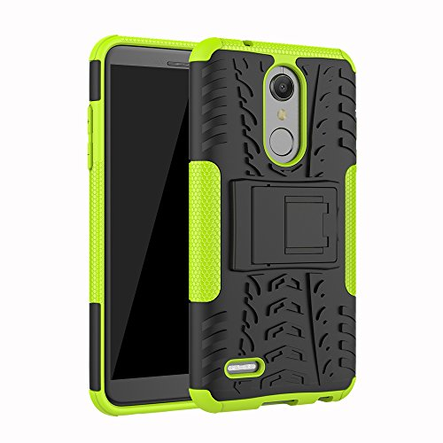 LG K10 2018 Case (MS425), LG K30 Case (X410), Dooge Dual Layer Slim Thin TPU+PC Bumper Heavy Duty High Impact Durable Rugged Anti-Slip Shock Absorption Protective Case for LG K10 2018