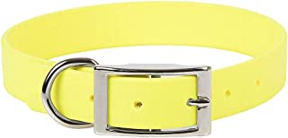 product image for Mendota Pet Durasoft Imitation Leather Collar - Standard Collar - Made in The USA - Waterproof, Odor Resistant - Yellow, 1 in x 20 in (Wide)