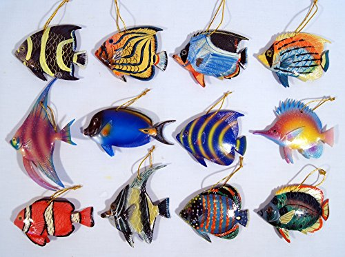 Wholesale Pack Hand Painted Tropical Fish Nemo Fish Ornaments 4