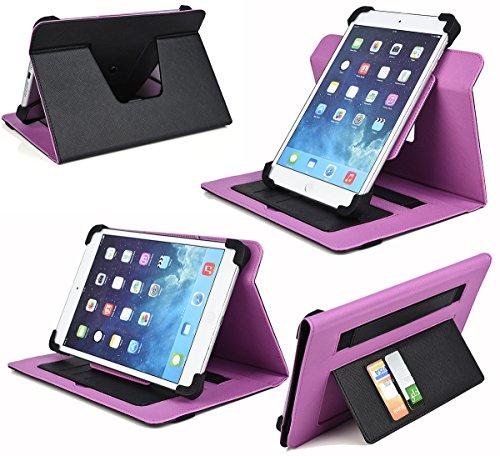 Amazon Kindle Fire HD 8.9, HD 8.9 LTE, HDX 8.9 - Universal 10 Tablet Case |Vortex| Black W/Purple