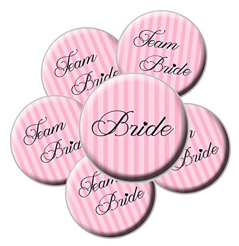 Pink Team Bride Buttons Bachelorette product image