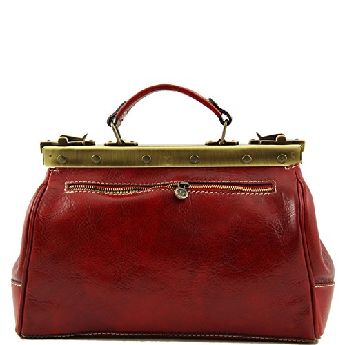 Tuscany Leather - Michelangelo - Borsa medico in pelle Nero - TL10038/2 Rosso