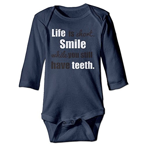 Messed Up Baby Costumes (Fashion Baby Boys & Girls Life Is Too Short Smile While You Still Have Teeth Long-sleeve Jumpers)