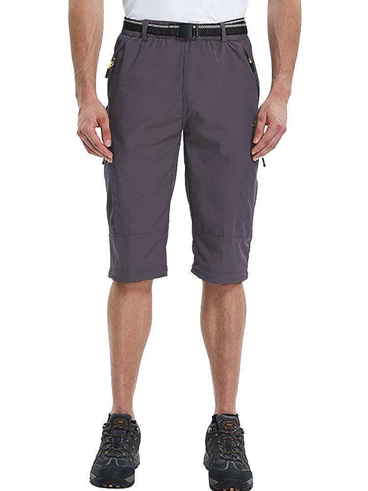 Toomett Mens Outdoor Quick-Dry Lightweight Waterproof Hiking Mountain Pants with Belt