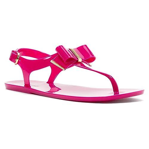 8bd315a44 MICHAEL Michael Kors Kayden Jelly Thong Sandals in Fuschia Pink (Fuschia 7  M)