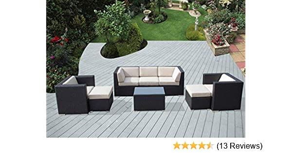 Ohana Patio Furniture Reviews.Amazon Com Ohana 8 Piece Outdoor Patio Furniture Sectional