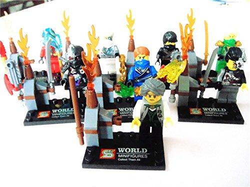 Ninja Minifigures Model Building Blocks Educational Brick Lego Toy 8pcs/Lot