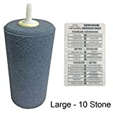 ACTIVE AQUA CYLINDER AIR STONE + Twin Canaries Chart - Large - 10 Stones