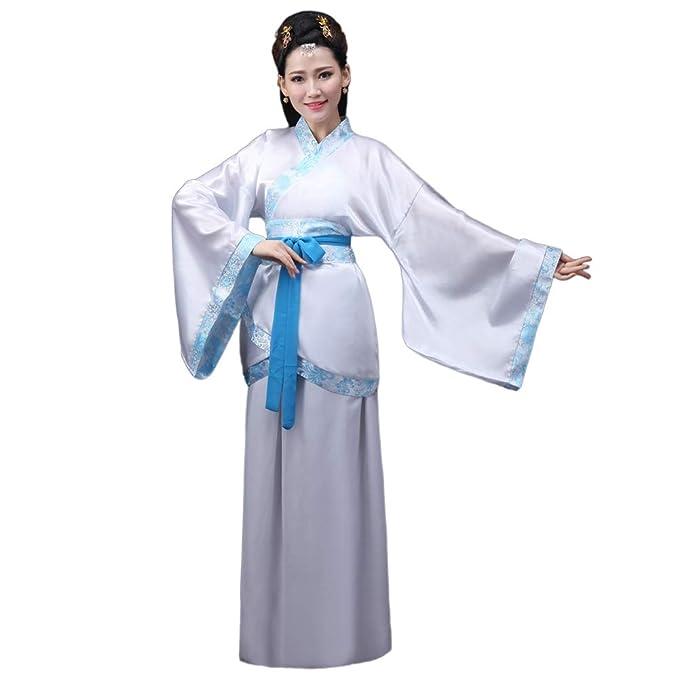 Meijunter Chino Antiguo Mujer Hanfu - Tradicional Traje Elegante Retro Tang Suit Etapa Rendimiento Vestido