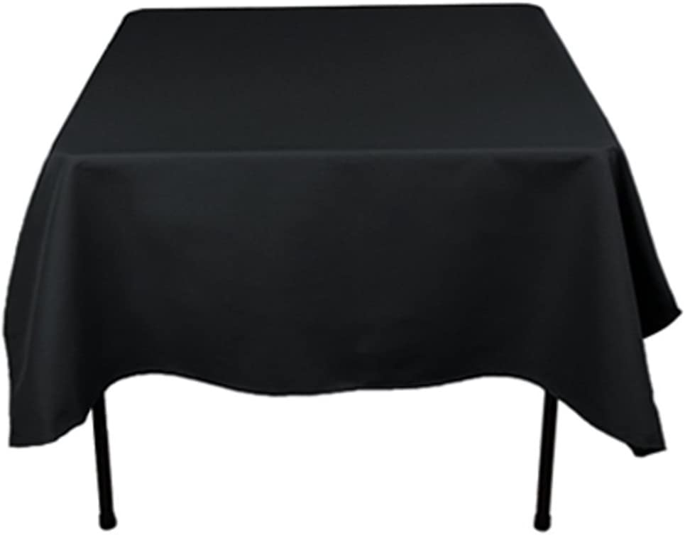 """Tablecloth 70/"""" x 70/"""" Square Black NEW Polyester Fabric Party Table Cover USA"""