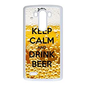 Keep Calm Drink Beer LG G3 Cell Phone Case White Protect your phone BVS_809348