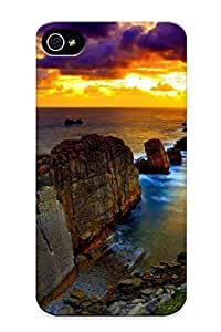 High Quality Vqf142agbGO Sunset Over The Rocky Coast Tpu Case For Iphone 4/4s