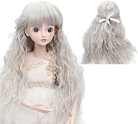 BJD Doll Wig 1//3 8-9 Pullip Blythe SD DD Luts Purple Hair 22-24cm
