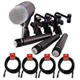 sm57 pack - Shure DMK57-52 Drum Microphone Kit + (4) XLR Cables Bundle (8 items)