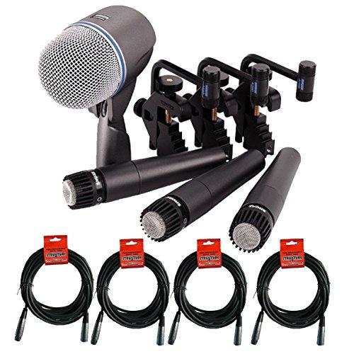 Microphone Kit + (4) XLR Cables Bundle (8 items) ()