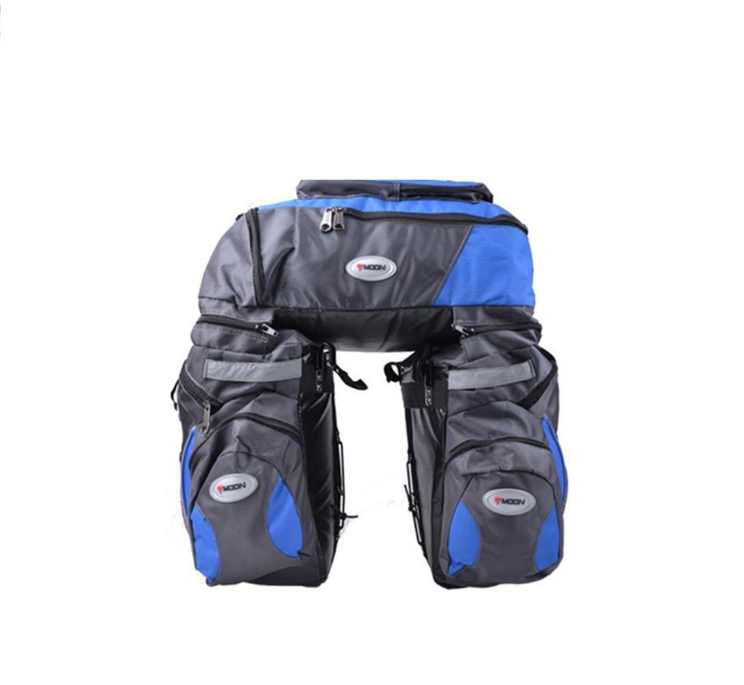 HSDMWJD Fahrrad Double niers Beutel, 3-in-1 Camel Tasche, wasserdicht, hohe Kapazität 60L 600d Nylon mit
