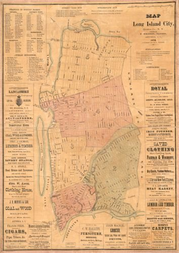 1876 Map of Long Island City, Queens Co., N.Y. - Size: 16x24 - Ready to Frame - New York | New (Cupones De Party City)